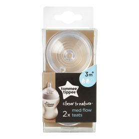 Tommee Tippee Closer To Nature Teat - Medium Flow - 2 Pack