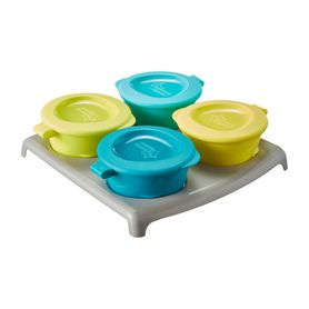 Tommee Tippee Freezer Pots And Tray 4 Pack