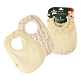 Tommee Tippee Closer To Nature Milk Feeding Bib - 2 Pack - Assorted Colours