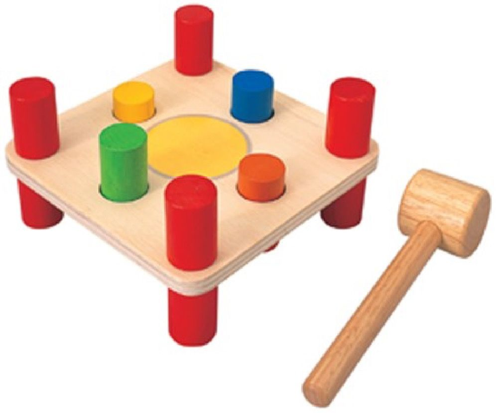 Plan Toys Hammer Pegs