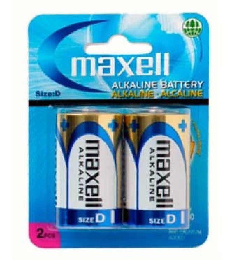 Maxell D Batteries 2 PACK