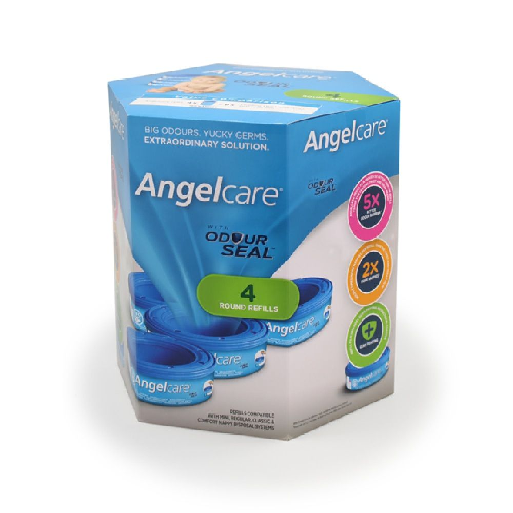 Angelcare Nappy Bin Refills 4 Pack image 0