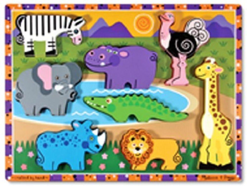 Melissa & Doug Safari Chunky Puzzle image 0