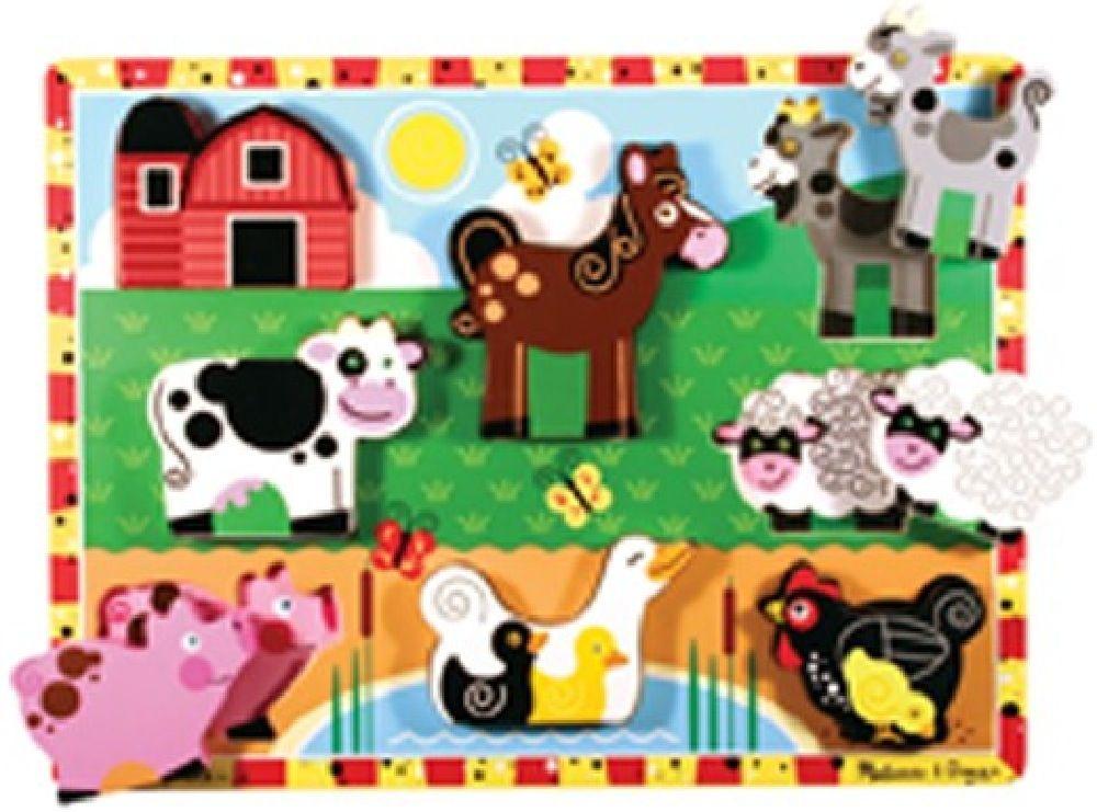 Melissa & Doug Farm Chunky Puzzle image 0