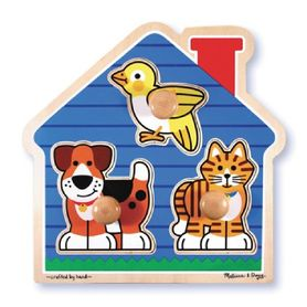 Melissa & Doug House Pet Knob Puzzle