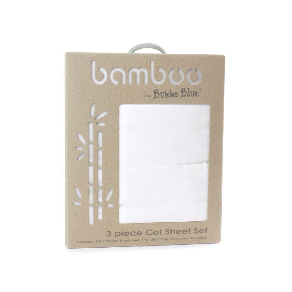 Bubba Blue Bamboo Cot Sheet Set image 3