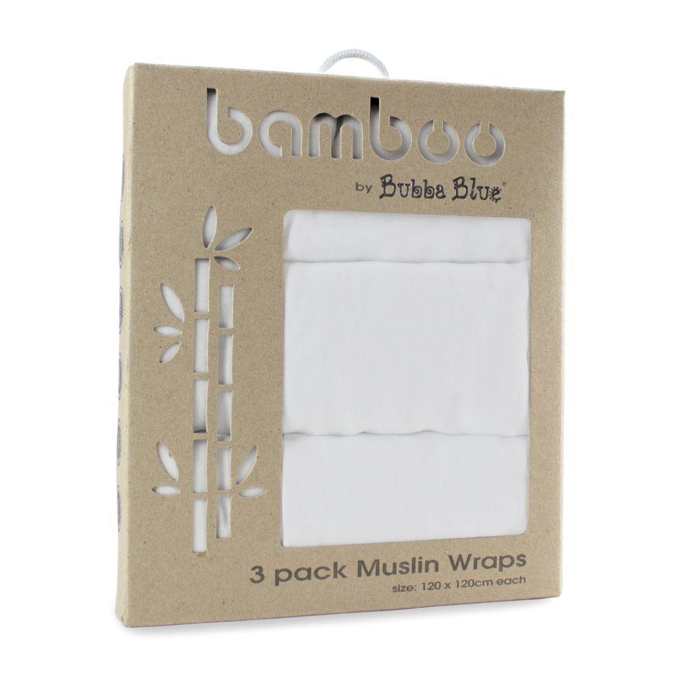 Bubba Blue Bamboo Muslin Wrap 3 Pack image 0