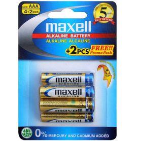 MAXELL AAA Batteries 4 Pack + 2 Bonus