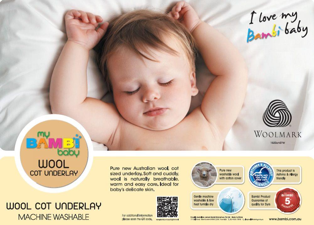 Bambi Baby Woollen Cot Under Blanket Standard image 0