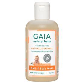 Gaia Baby Bath & Body Wash 250ml