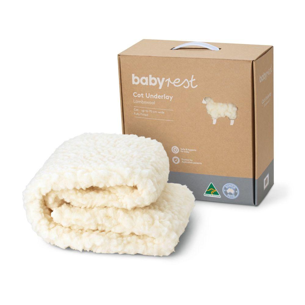 Babyrest Lambswool Underlay Cot Standard image 0