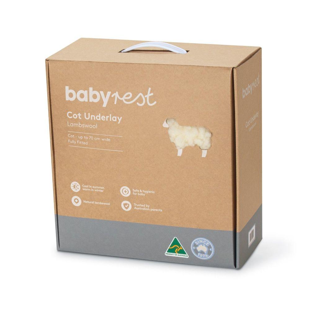 Babyrest Lambswool Underlay Cot Standard image 1