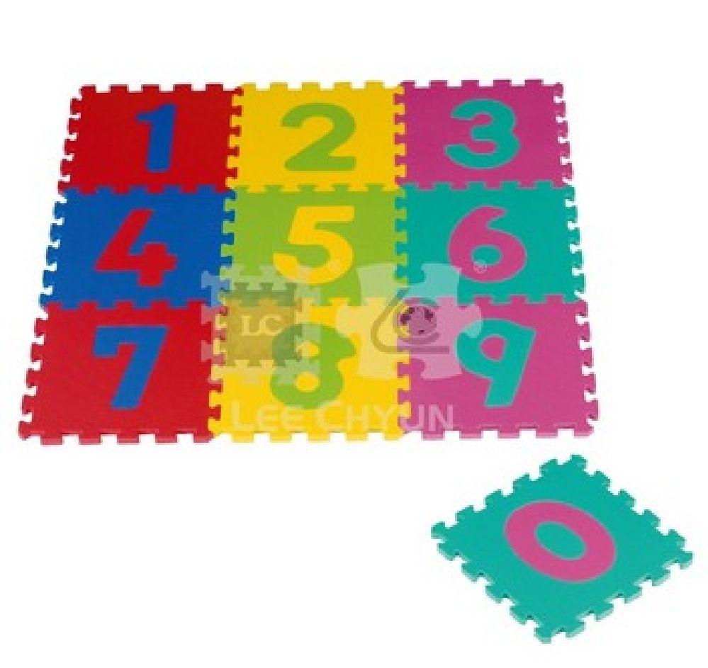 Foam Mats Number Puzzle 10 Piece image 0