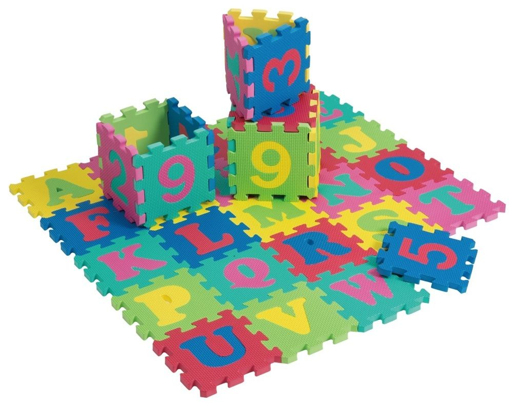 Foam Mats Alphabet & Numbers Puzzle Small 36 Piece image 0