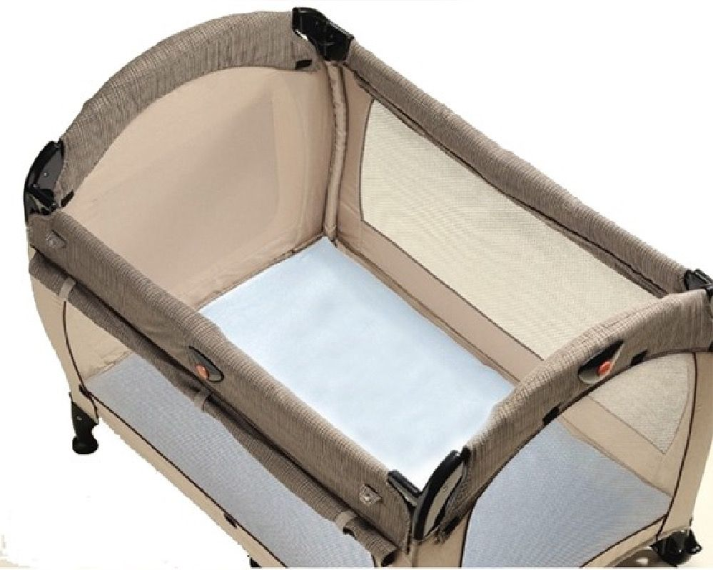 Playette Travel Cot Fitted Sheet Blue image 0