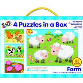 Galt 4 Puzzles In A Box Farm