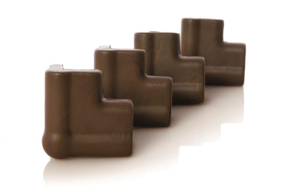 Dreambaby Foam Corner Bumpers Brown 4 Pack
