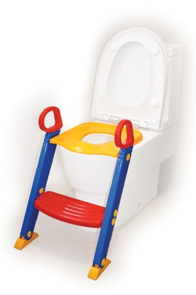 4Baby Toilet Seat With Steps - Primary Colours image 0