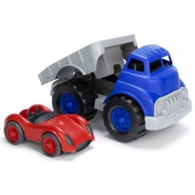 Green Toys Flatbed Truck Race Car Red