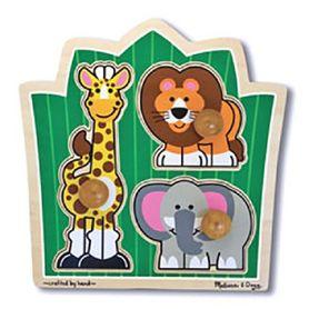 Melissa & Doug Jumbo Knob Puzzle Jungle Friends