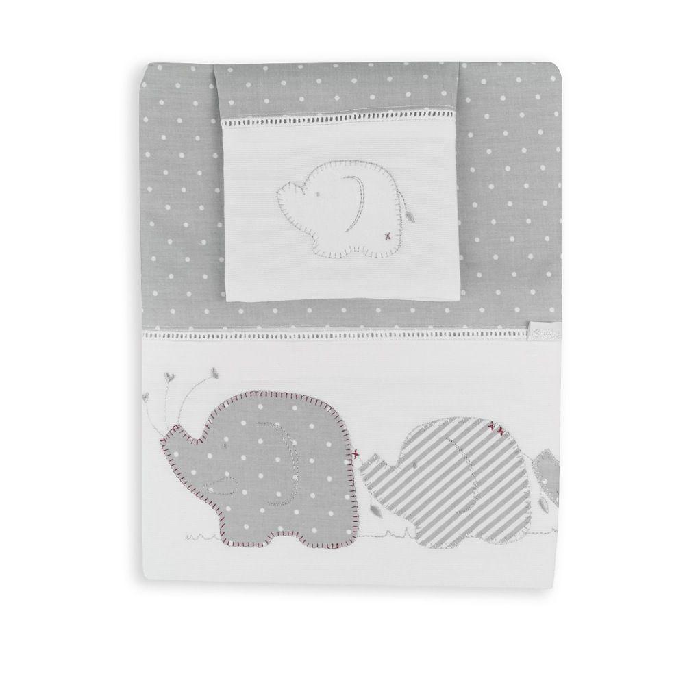 Bubba Blue Petit Elephant Cot Sheet Set image 1