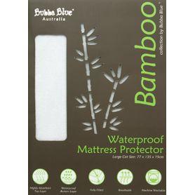 Bubba Blue Bamboo Mattress Protector Cot Large