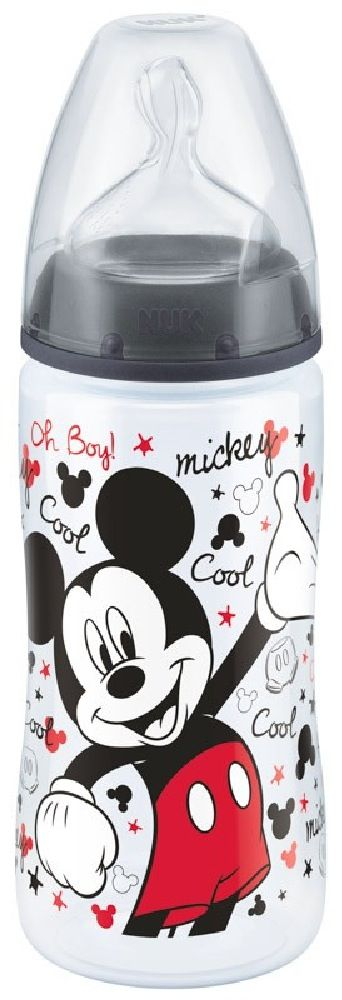 NUK First Choice Plus Bottle - Mickey - Charcoal - 300ml - 6-18 Months - Medium image 0