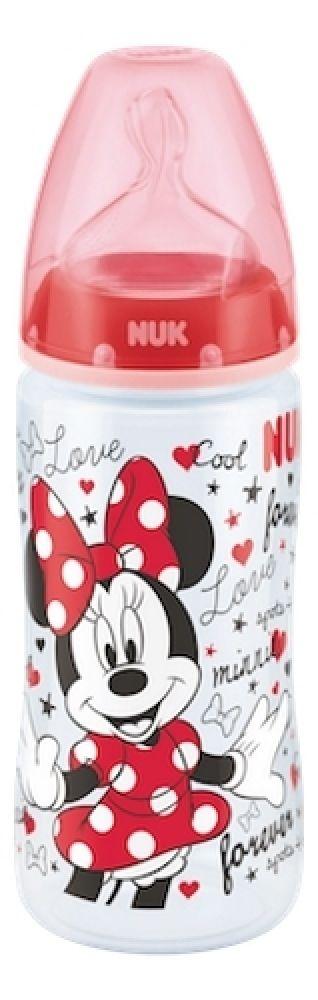 NUK First Choice Plus Bottle - Mickey - Red - 300ml - 6-18 Months - Medium image 0