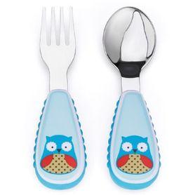 Skip Hop Zoo Fork And Spoon Set Owl