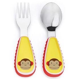 Skip Hop Zoo Fork And Spoon Set Monkey
