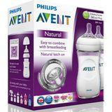 Avent Natural Bottle - 260ml - 2 Pack image 1