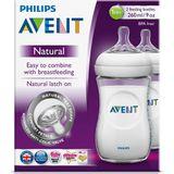 Avent Natural Bottle - 260ml - 2 Pack image 2