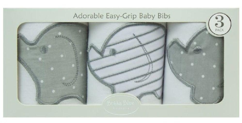 Bubba Blue Petit Elephant Bib Gift Set 3 Pack image 0