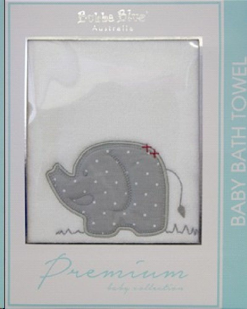 Bubba Blue Petit Elephant Bath Towel image 0