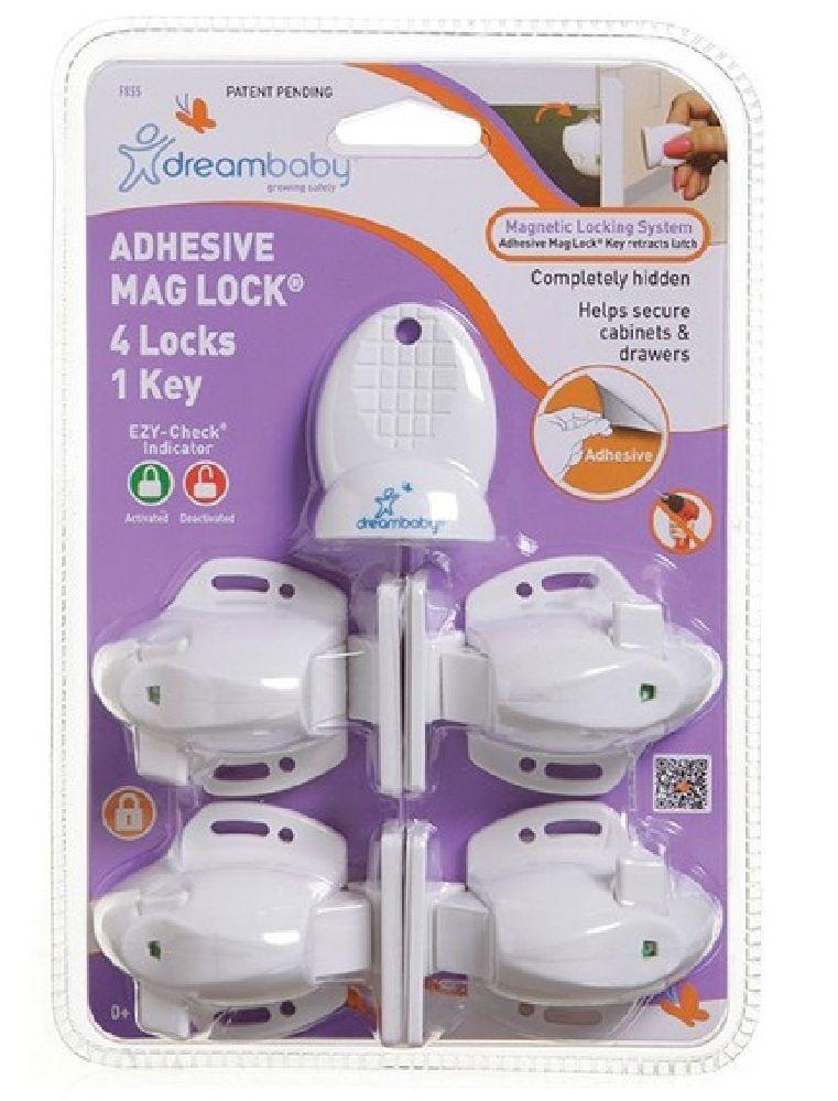DreamBaby Adhesive Mag Lock 4 Locks + 1 Key image 0
