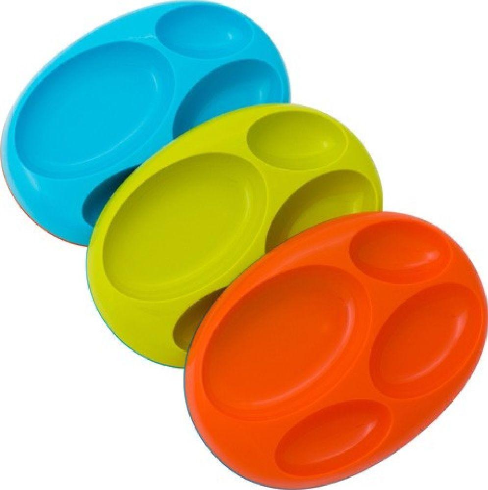 Boon Platter 3 Pk Boy Blue / Orange / Green image 0
