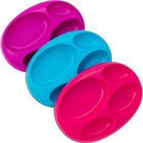 Boon Platter 3 Pk Girl Pink / Purple / Blue