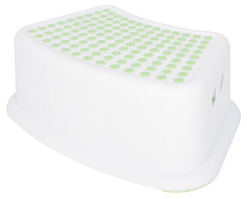 4Baby Step Stool White/Green image 0