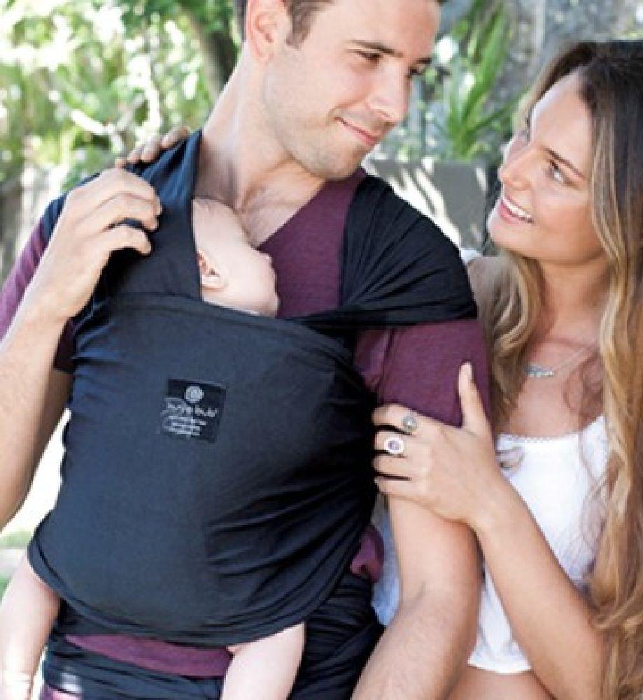 Hug A Bub Wrap Carrier Lightweight Organic Charcoal