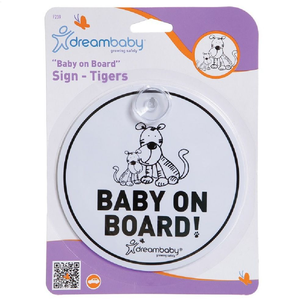 DreamBaby Baby On Board Sign Tiger image 0