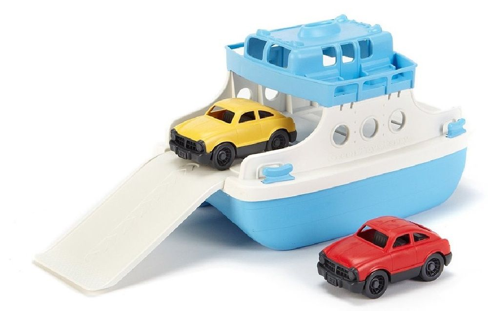 Green Toys Ferry Boat With 2 Mini Cars image 0