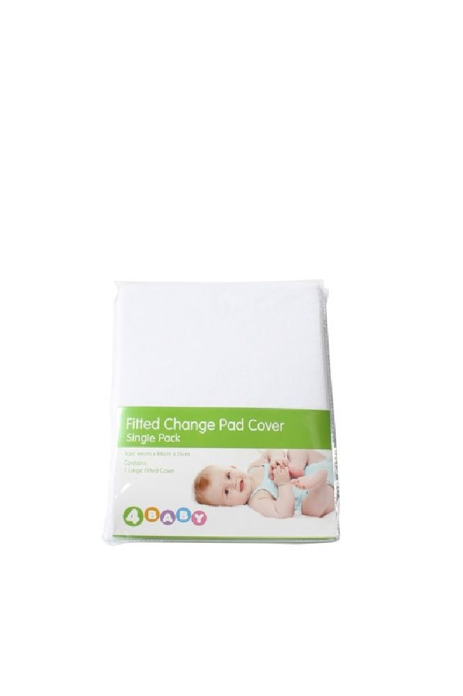 4Baby Change Pad Cover White image 1