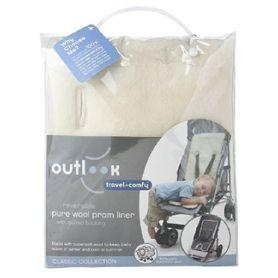 Outlook Travel Comfy Wool Liner- Cream Grey Suede