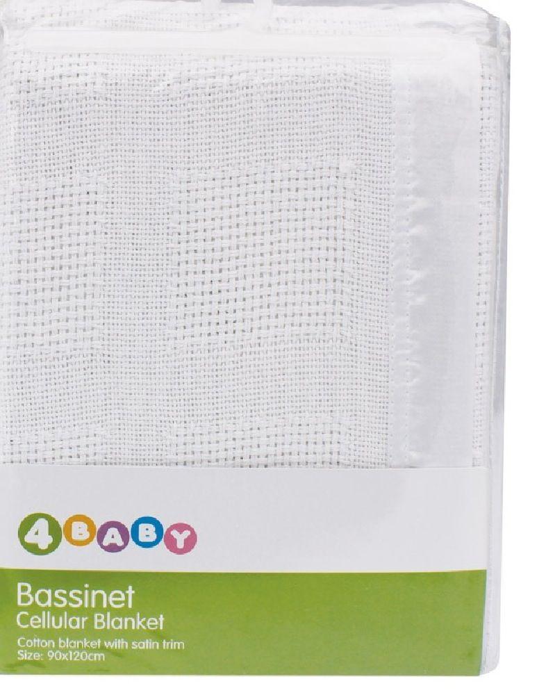 4Baby Cellular Blanket Bassinet/Cradle White image 0