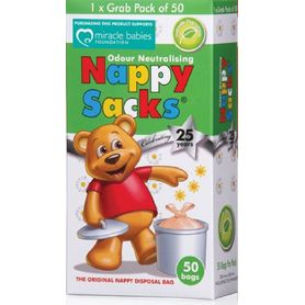 Nappy Sacks Disposable Nappy Bags 50 Pack