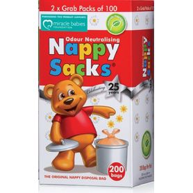 Nappy Sacks Disposable Nappy Bags 200 Pack