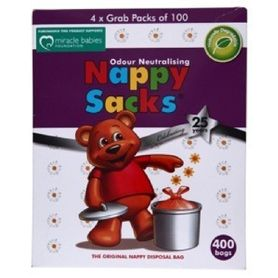 Nappy Sacks Disposable Nappy Bags 400 Pack