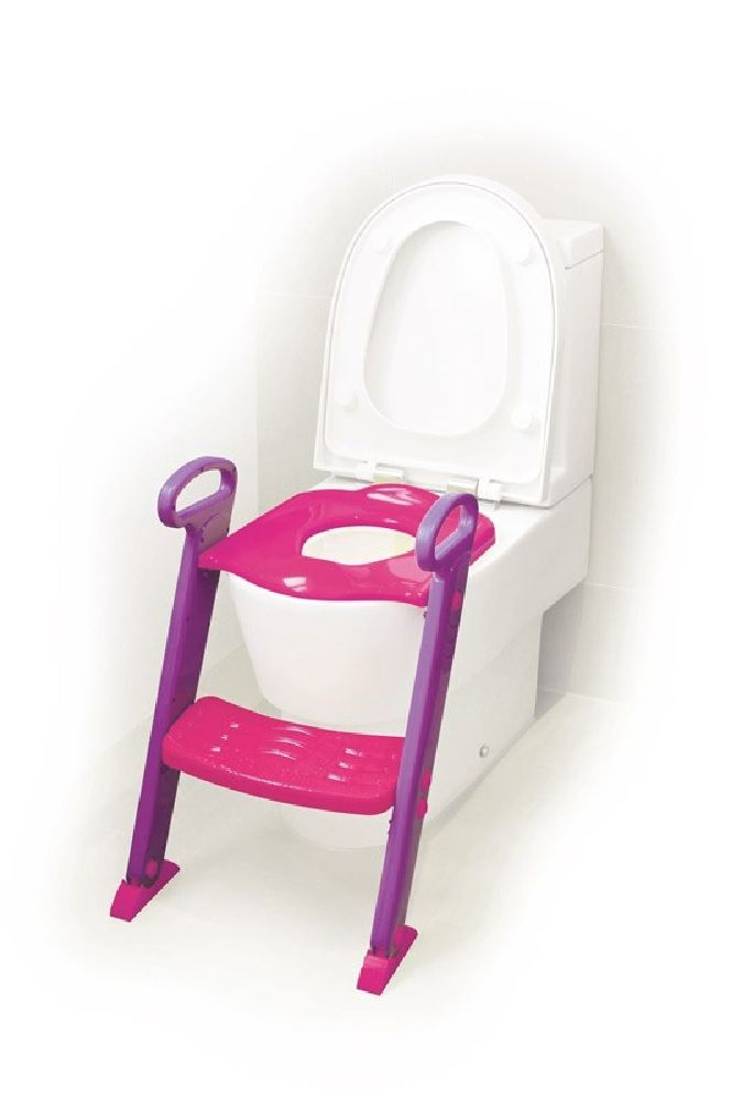 4Baby Toilet Seat With Steps Pink / Purple image 1
