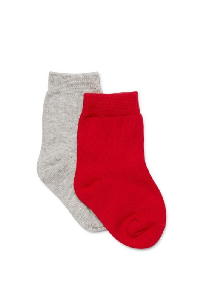Marquise Knitted Socks Red/Grey 2 Pack image 0