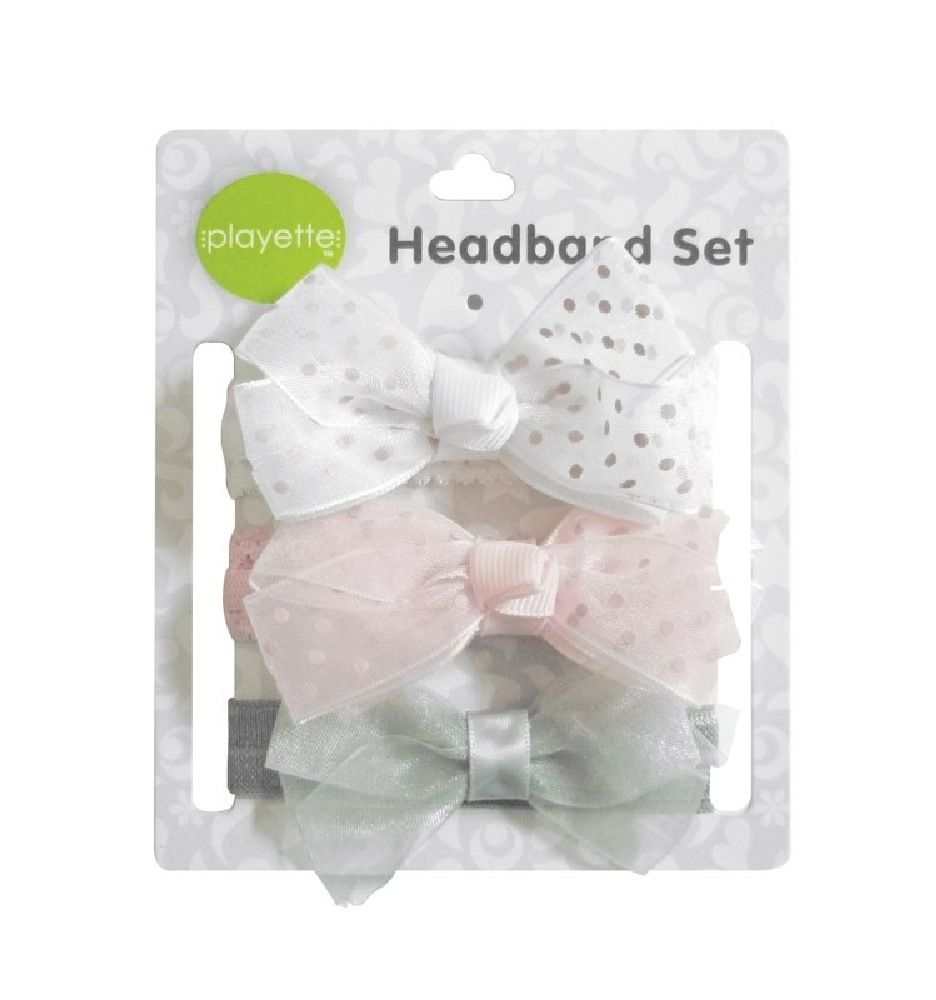 Playette Chiffon Grosgrain Headbands 3 Pack image 0